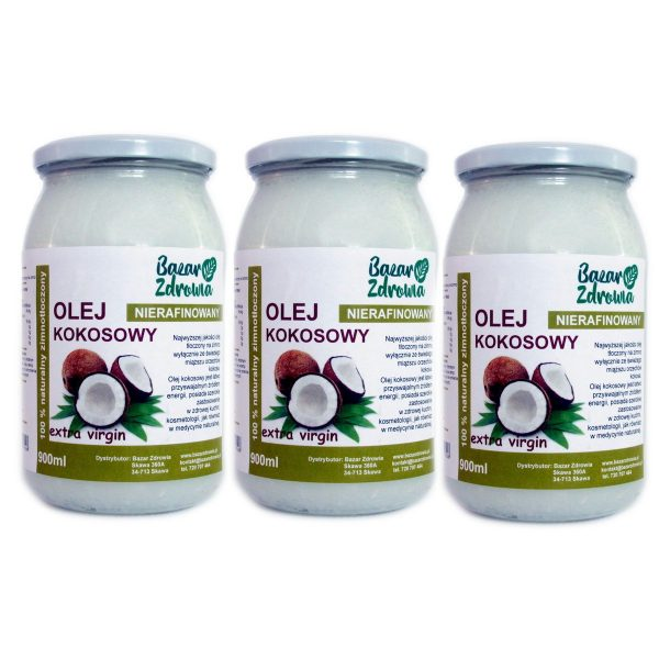 3-x-olej-kokosowy-nierafinowany-900ml